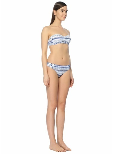 Jets Swimmear Desenli Bikini Altı Mavi